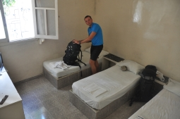 Our room at the Backpackers Hostel.