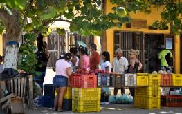 A street greengrocery