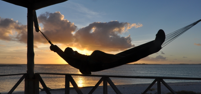 best time ever, lonely island, sunset and hammocks:)