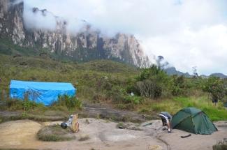 At the base camp