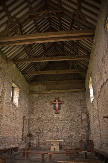 St Peter's chapel at Othona Roman fort
