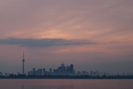 Toronto - city panorama at Tommy Thompson-Park