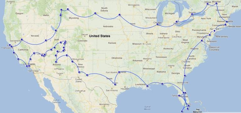 the whole route / cała trasa