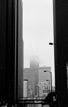 Hancock in the clouds