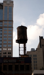 the rooftop water tower