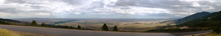 Panoramic entrance to the Bighorn National Forest