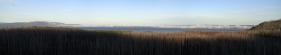 chmury nadciągające nad jezioro Yellowstone / clouds aproaching Yellowstone lake