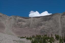 zbocze Avalanche Peak po którym schodziliśmy