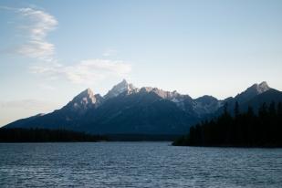 Grand Teron across Jackson Lake