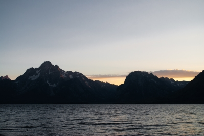 Mt. Moran and Doane Peak across Jackson Lake