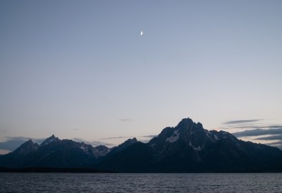 Mt. Moran and Grand Teton across Jackson Lake