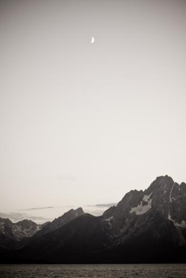 Mt. Moran and The Moon 01