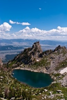 View from The Disapointment Peak over The Amphitheater Lake and Gros Ventre Wilderness 02
