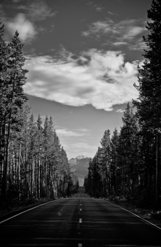 road to Grand Teton National Park