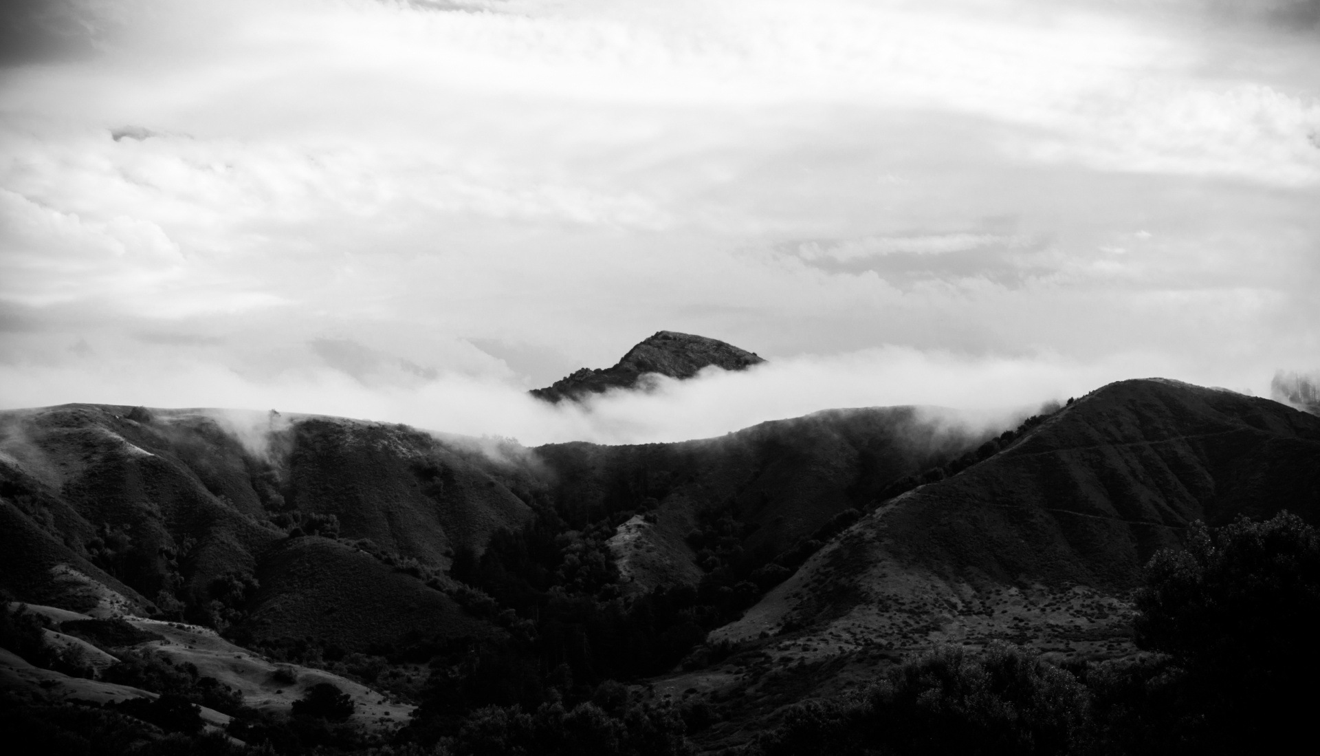 Big Sur in the clouds