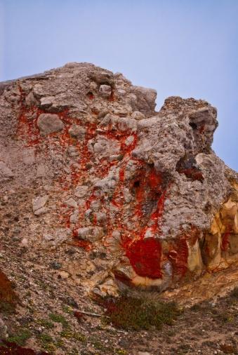 krwawiąca skała