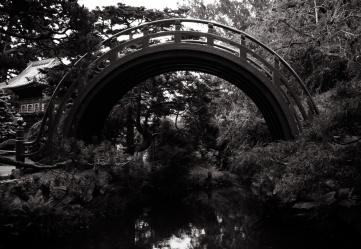 a bridge in the Japanease Tea Garden