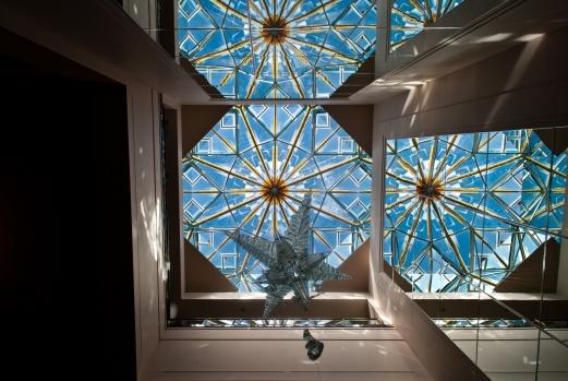 skylight and a crystal