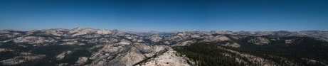 Tenaya canyon and The Cathedral Range - view from the Clouds Rest - viewing north-east