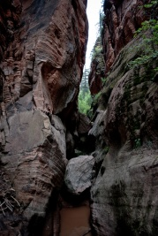 the furthest I hiked in the Hidden Canyon