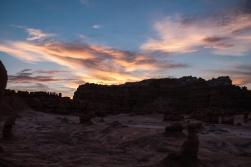 Sunrise at Goblin Valley