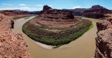 Colorado River view from the Shafer Canyon