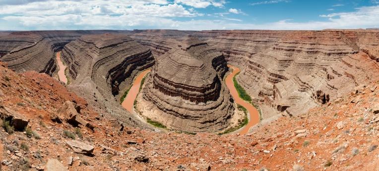 Goosenecks - Stitched Panorama - 8 images