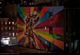 The mural by Eduardo Kobra on 25th Street at 10th Avenue in Chelsea in New York