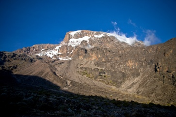 Kilimanjaro view from Barranco Camp