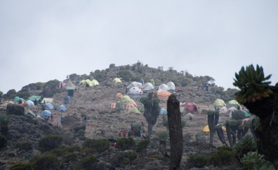 Barranco Camp - 4115m / 13,500 feet - lies at in the Barranco Valley.
