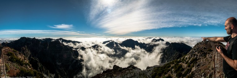 view from the Pico Ruivo - panorama-13 images