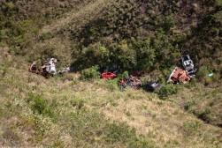 stolen cars thrown into valleys near Mirante Topo do Mundo